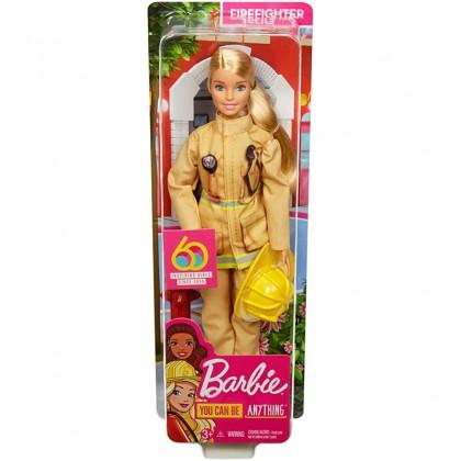 Barbie 60th Anniversary Firefighter Doll (GFX23) Toys for Kids Girls Boys
