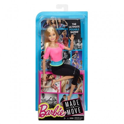 Barbie Bundle Made To Move Doll Blue Top + Pink Top